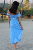 Angels by the Sea Blue Belt and Sleeve Dress