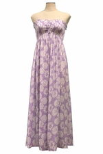 Angels by the Sea Purple Flower Princess Long Dress