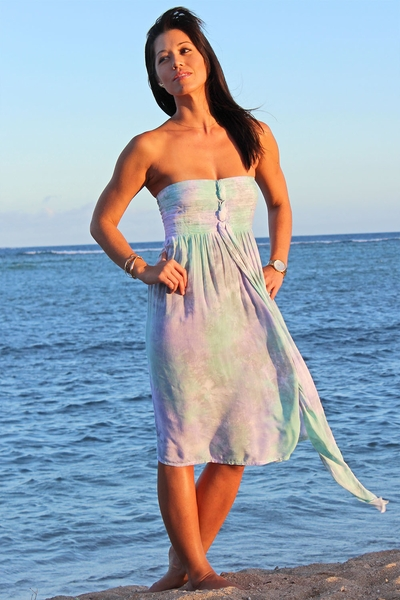 Angels by the Sea Purple Mid-Length Tube Top Tie Dress