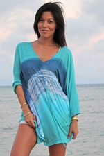 Angels by the Sea Teal Tie Dye Tunic