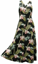 Bambo Orchid Black Button Front Tank Dress