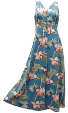 Bambo Orchid Blue Button Front Tank Dress