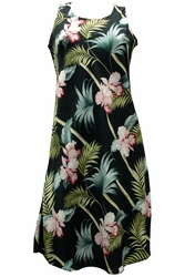 Bamboo Orchid Black Tank Dress