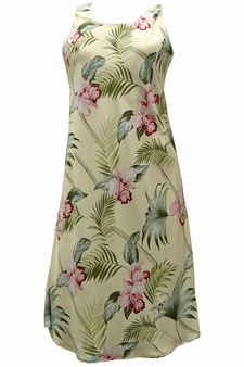 Bamboo Orchid Yellow Tank Dress