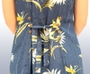 Bamboo Paradise Navy Button Front Tank Dress
