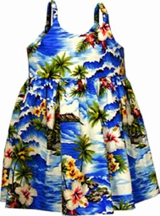 Bay View Blue Girl's Bungee Dress