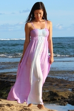 Bold Tie Dye Reversible Maxi Dress with Elastic Bust