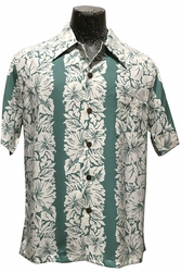 Classic Hibiscus Green Hawaiian Shirt