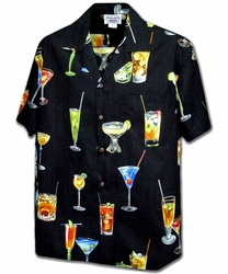 Cocktails Black Hawaiian Shirt