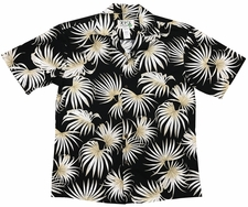 Dancing Ferns Black Hawaiian Shirt