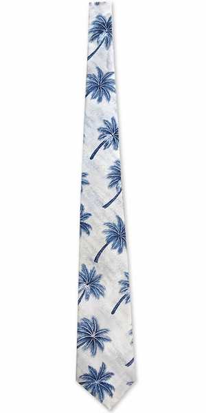 Dancing Palms Blue Men's Necktie