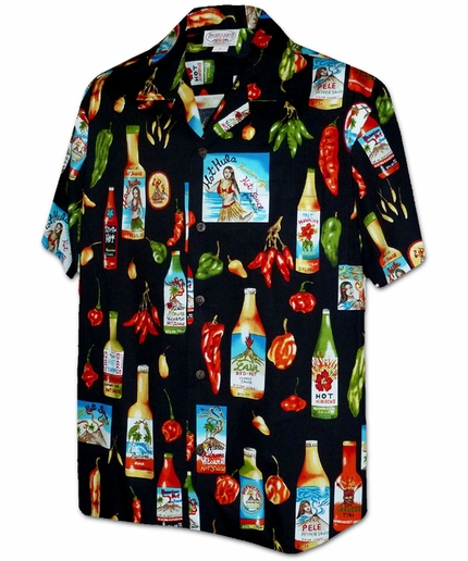 Feel the Burn Black Hawaiian Shirt