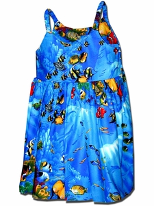 Fishy Time Blue Bungee Dress
