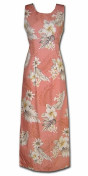 Floral Garden Peach Long Tank Dress