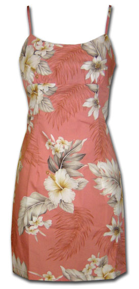 Floral Garden Peach Spaghetti Dress