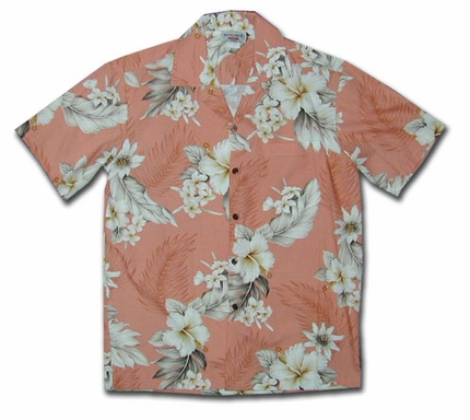 Floral Garden Peach Hawaiian Shirt