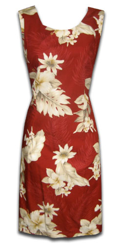 Floral Garden Red Short Tank Dress