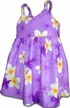 Flower Fruity Lavender Girl's Bungee Dress
