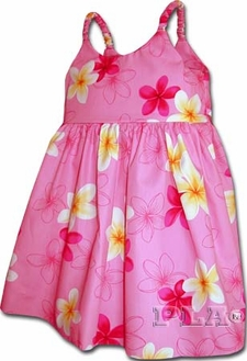 Flower Fruity Pink Girl's Bungee Dress