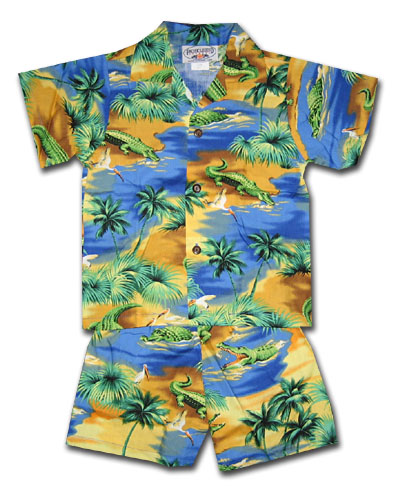 Gator Country Blue Boy's Cabana Set