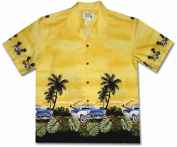 Grease Lightning Surfer Yellow Hawaiian Shirt