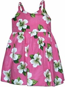 Grown Up Hibiscus Pink Bungee Dress
