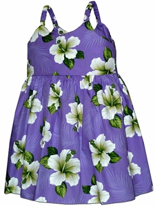 Grown Up Hibiscus Purple Bungee Dress