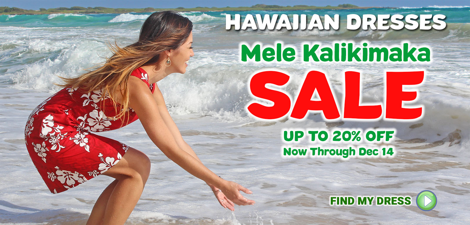 Hawaiian Dresses Mele Kalikimaka Sale