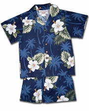 Kilauea Navy Boy's Cabana Set