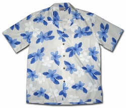 Island Prince Blue Hawaiian Shirt