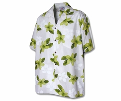 Island Prince Lime Boy's Hawaiian Shirt