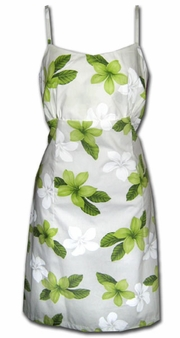 Island Princess Green Spaghetti Dress