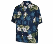 Kilauea Navy Boy's Hawaiian Shirt