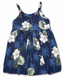 Kilauea Navy Girl's Bungee Dress