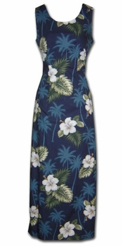 Kilauea Navy Long Tank Dress