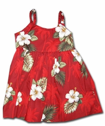 Kilauea Red Girl's Bungee Dress