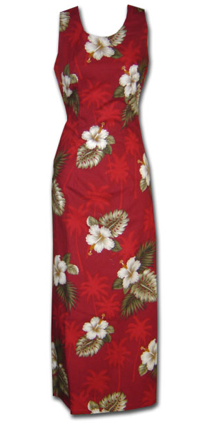 Kilauea Red Long Tank Dress