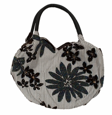 Large Daisy Checkered Bag