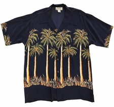 Midnight Palms Retro Hawaiian Shirt