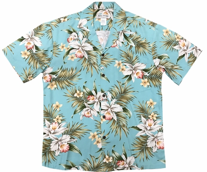 Pacific Orchid Green Hawaiian Shirt