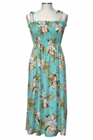 Pacific Orchid Green Mid-Length Tube Dress