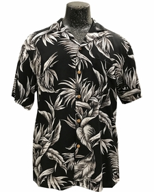 Paradise Jungle Black Hawaiian Shirt