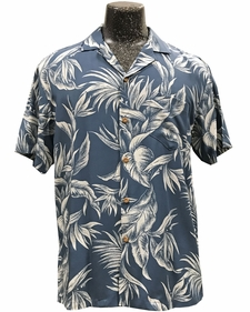 Paradise Jungle Blue Hawaiian Shirt