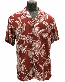 Paradise Jungle Red Hawaiian Shirt