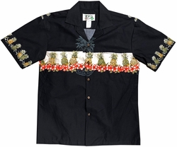 Pineapple Club Black Hawaiian Shirt