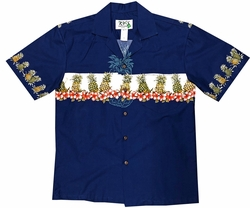 Pineapple Club Navy Hawaiian Shirt