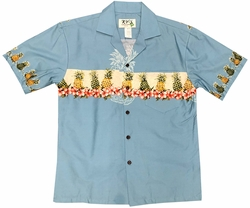 Pineapple Club Turquoise Hawaiian Shirt