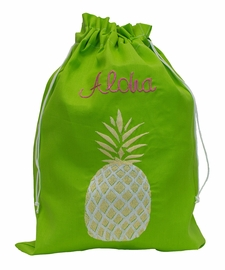 Pineapple Embroidered Travel Sack