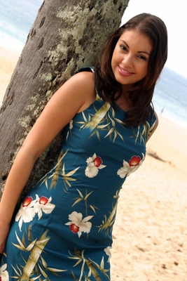 Posing by a coconut tree