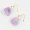 Sea Glass Lavendar Gumdrop Earrings